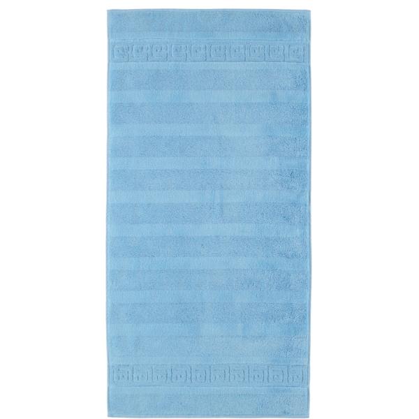 Cawö - Noblesse Uni 1001 - Farbe: 188 - mittelblau Handtuch 60x110 cm