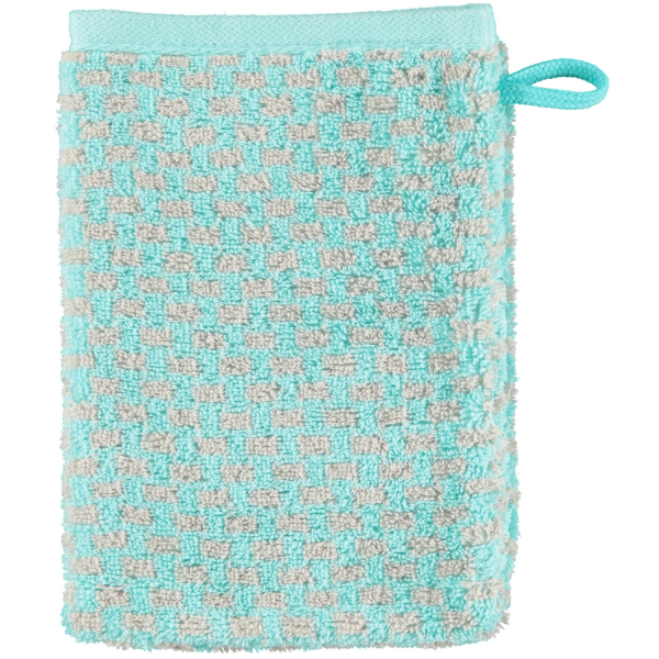 Cawö Reed Allover 956 - Farbe: mint - 47 Waschhandschuh 16x22 cm