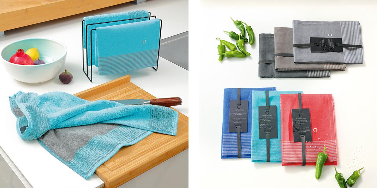 Cawö Home Two-Tone 590 - Geschirrtuch 50x70 cm - Farbe: graphit - 70 Detailbild 3