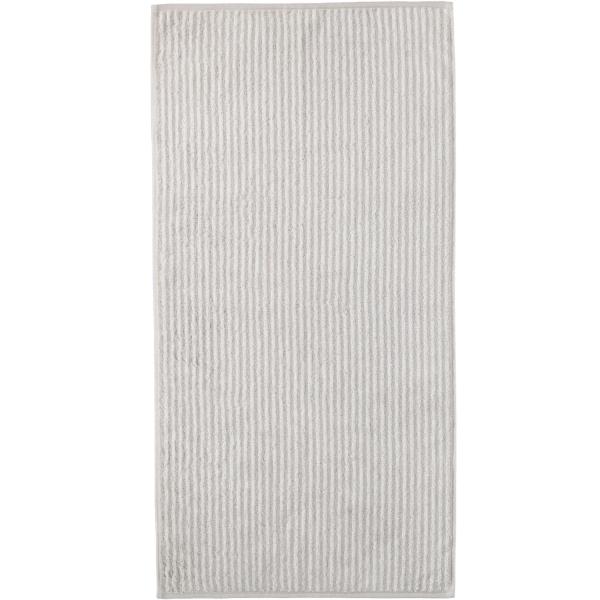 Cawö Zoom Streifen 121 - Farbe: platin - 76 Handtuch 50x100 cm