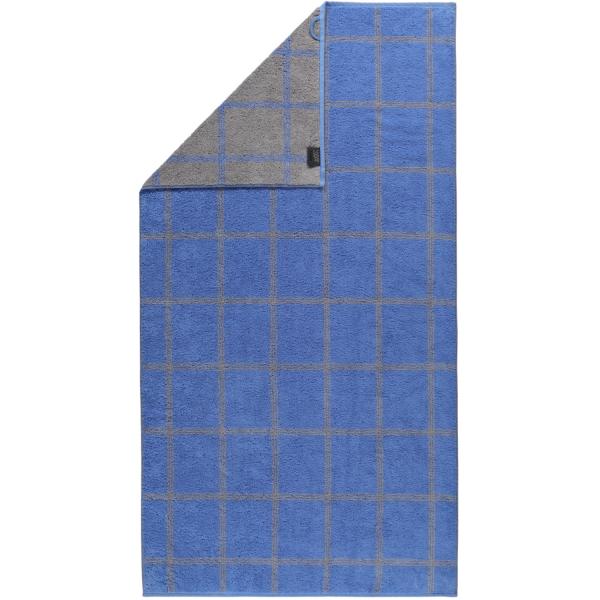 Cawö - Luxury Home Two-Tone Grafik 604 - Farbe: blau - 17 Duschtuch 80x150 cm