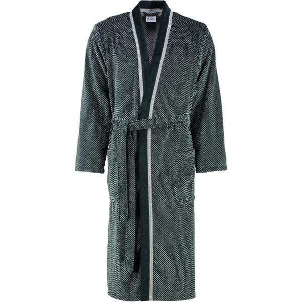Cawö - Herren Bademantel Kimono 4839 - Farbe: silber/schwarz - 79