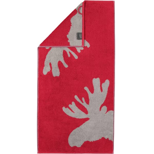 Cawö Christmas Edition Elch 927 - Farbe: bordeaux - 22 Handtuch 50x100 cm