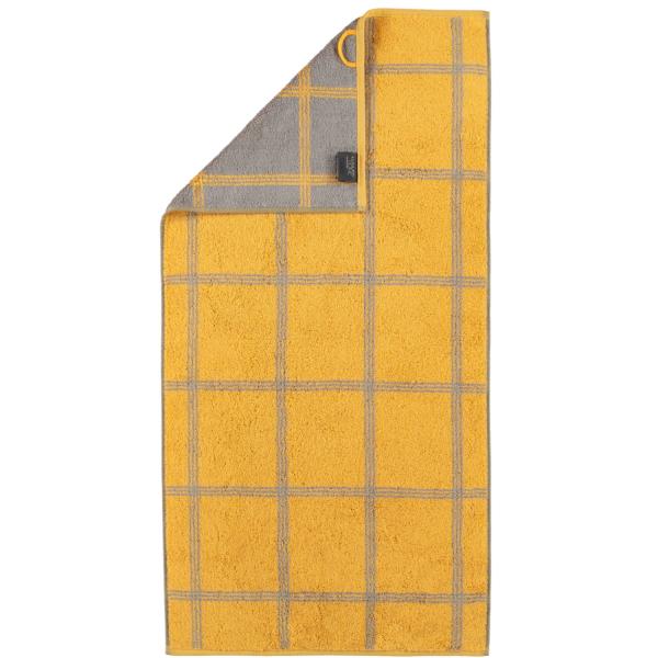 Cawö - Luxury Home Two-Tone Grafik 604 - Farbe: curry - 57 Handtuch 50x100 cm