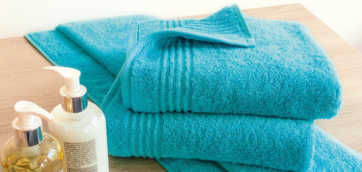 Cawö Essential Uni 9000 - Farbe: pistazie - 412 Waschhandschuh 16x22 cm Detailbild 1