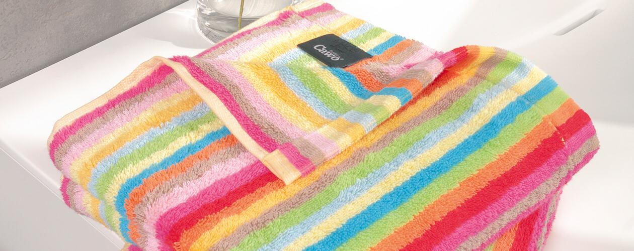 Cawö - Life Style Streifen 7008 - Farbe: 25 - multicolor Seiflappen 30x30 cm Detailbild 2