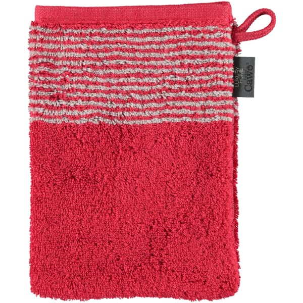 Cawö - Luxury Home Two-Tone 590 - Farbe: bordeaux - 22 Waschhandschuh 16x22 cm