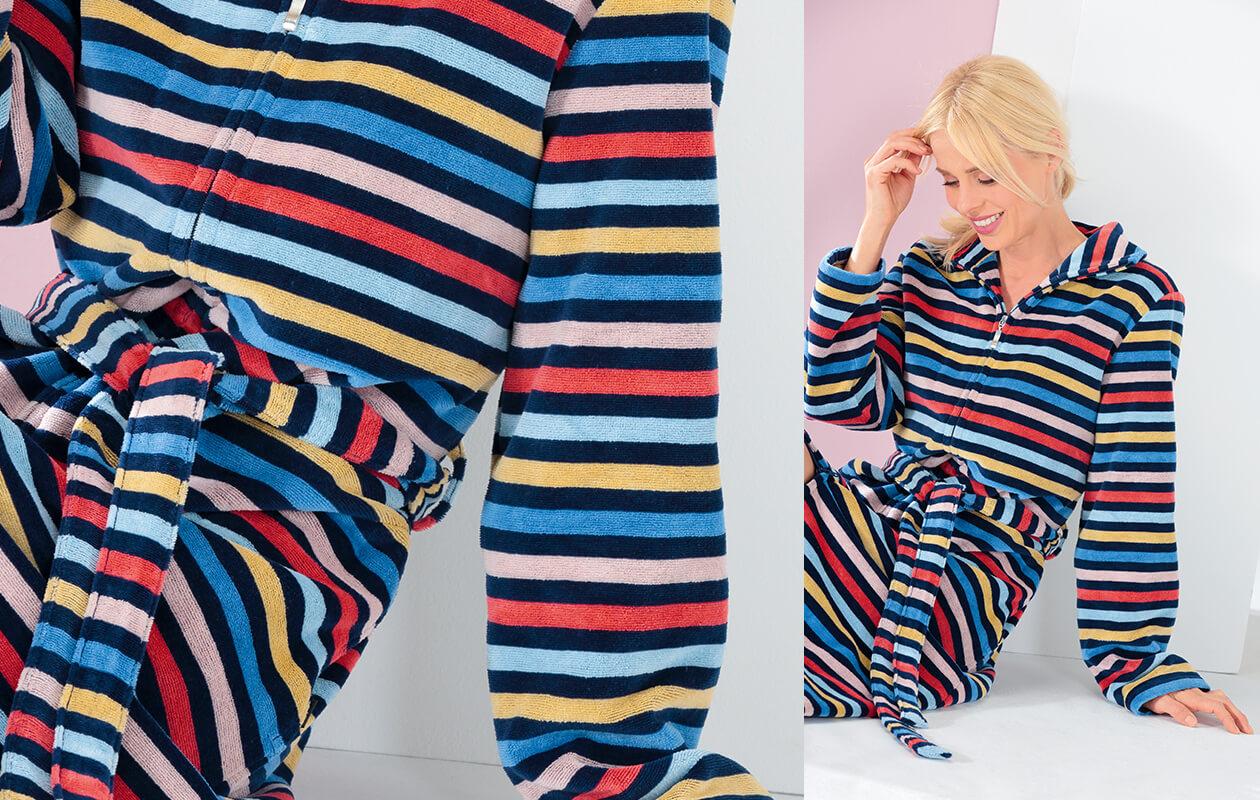 Cawö Damen Bademantel RV 2223 - Farbe: multicolor - 12 Detailbild 1