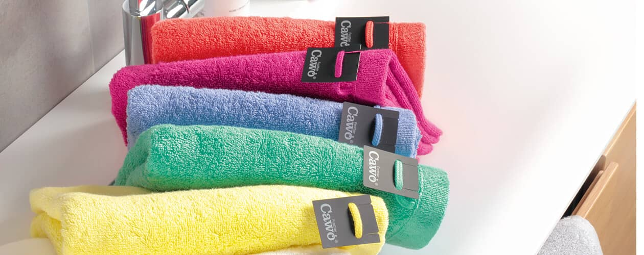 Cawö - Life Style Uni 7007 - Farbe: rouge - 214 Handtuch 50x100 cm Detailbild 2
