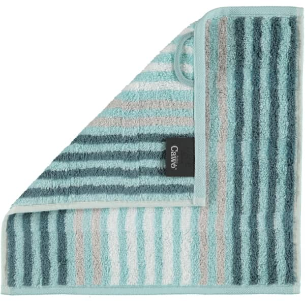 Cawö Noblesse Seasons Streifen 1083 - Farbe: mint - 44 Seiflappen 30x30 cm