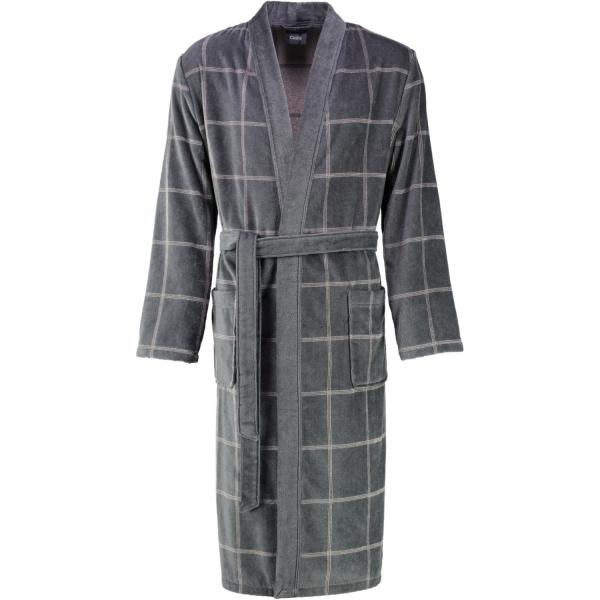 Cawö - Herren Bademantel Kimono 2845 - Farbe: stein - 77
