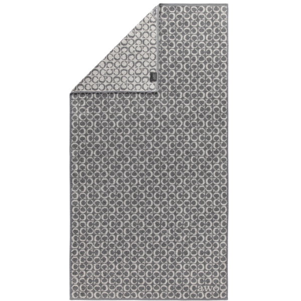 Cawö - Luxury Home Two-Tone C-Allover 605 - Farbe: schiefer - 77 Duschtuch 80x150 cm