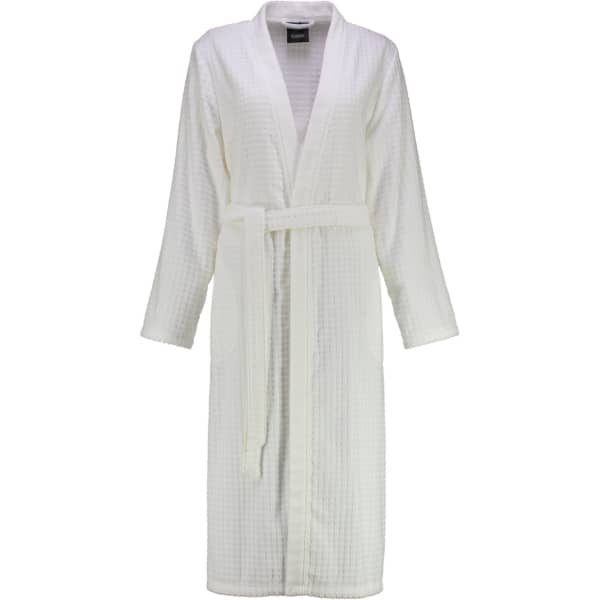 Cawö - Damen Bademantel Kimono 3312 - Farbe: weiß - 600