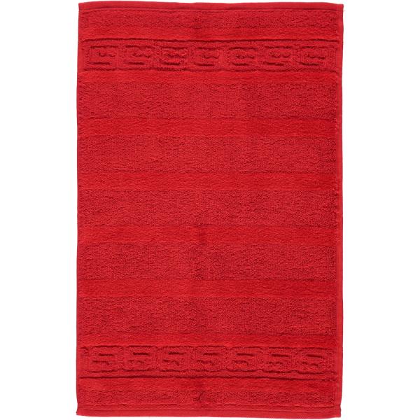 Cawö - Noblesse Uni 1001 - Farbe: 203 - rot Gästetuch 30x50 cm