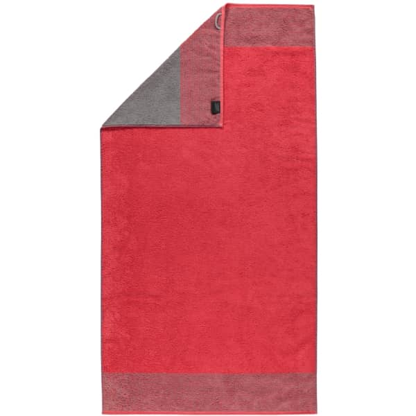 Cawö - Luxury Home Two-Tone 590 - Farbe: rot - 27 Duschtuch 80x150 cm