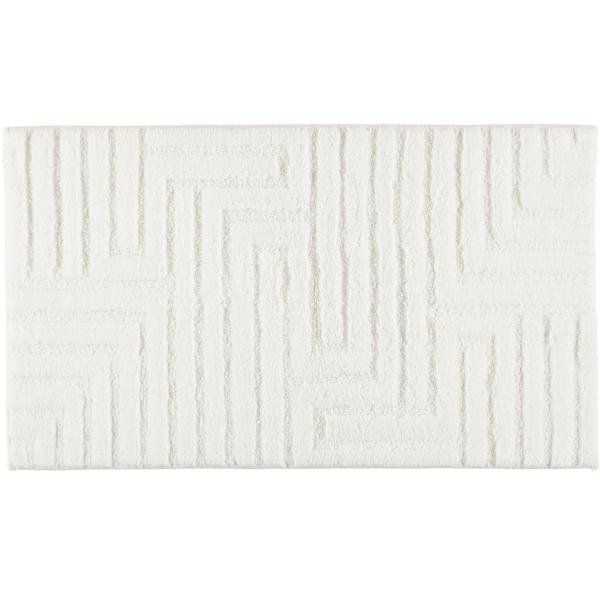 Cawö Home - Badteppich Struktur 1004 - Farbe: weiß - 600 60x100 cm