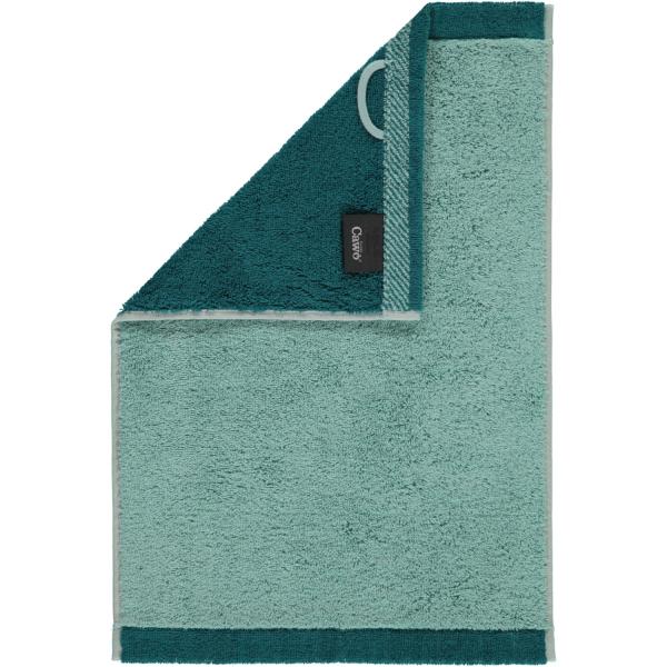 Cawö Plaid Doubleface 7070 - Farbe: seegrün - 44 Gästetuch 30x50 cm