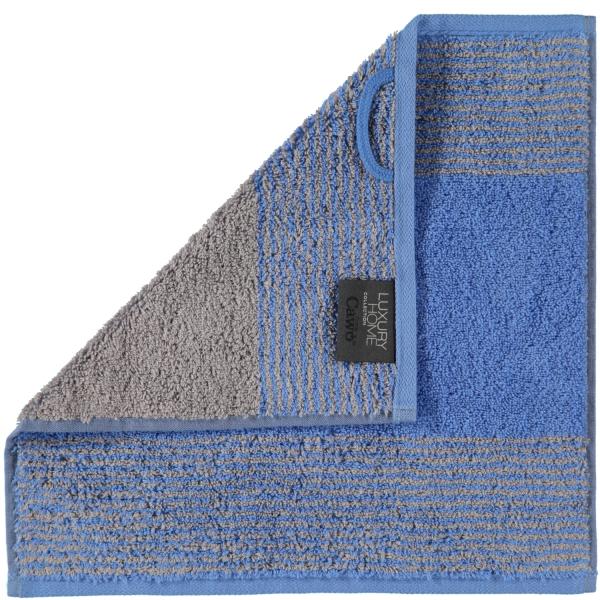 Cawö - Luxury Home Two-Tone 590 - Farbe: blau - 17 Seiflappen 30x30 cm