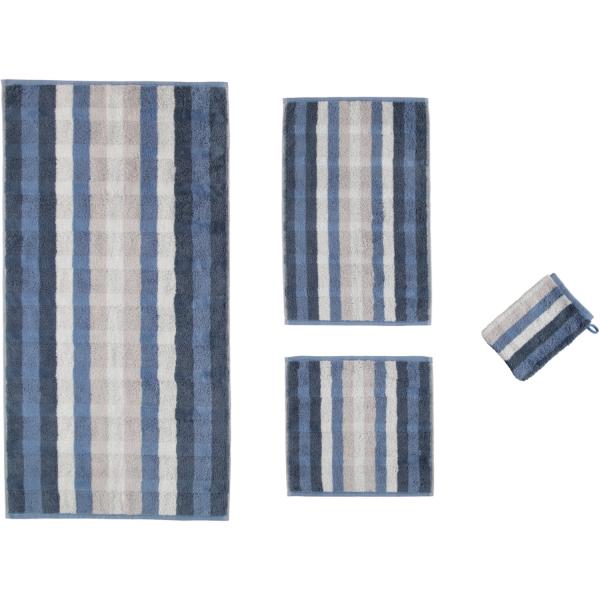 Cawö - Noblesse Interior Streifen 1081 - Farbe: nachtblau - 11