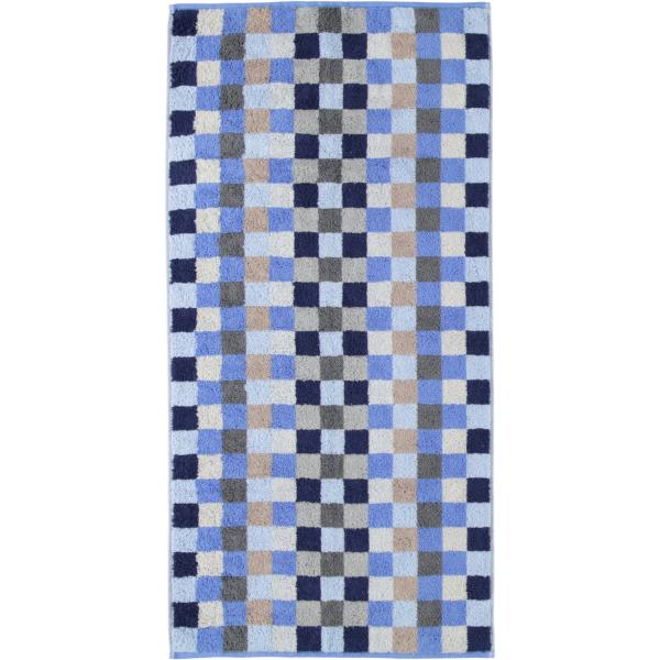 Cawö - Unique Karo 942 - Farbe: saphir - 11 Handtuch 50x100 cm