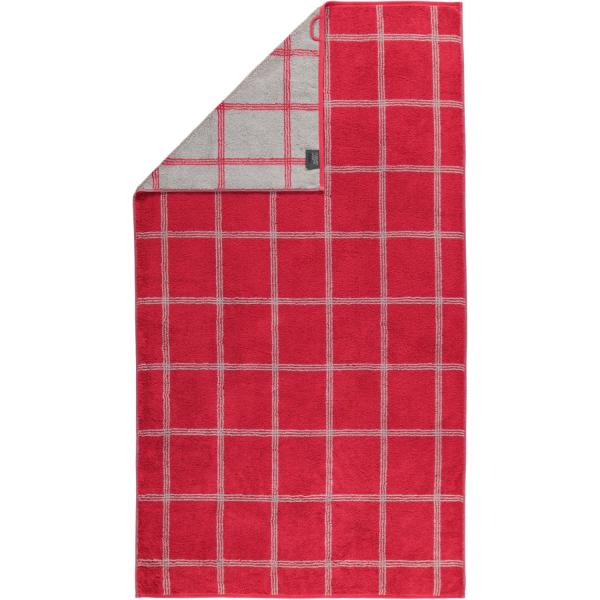 Cawö - Luxury Home Two-Tone Grafik 604 - Farbe: bordeaux - 22 Duschtuch 80x150 cm