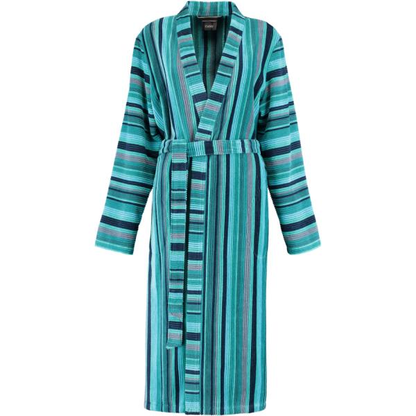 Cawö Damen Bademantel Kimono 2215 - Farbe: aqua - 44
