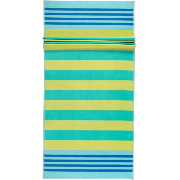 Cawö Beach Strandtuch 5555 Streifen - 80x180 cm - Farbe: gelb-grün - 45