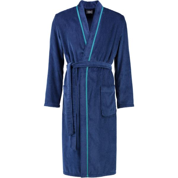 Cawö - Herren Bademantel Kimono 5702 - Farbe: navy - 133 S