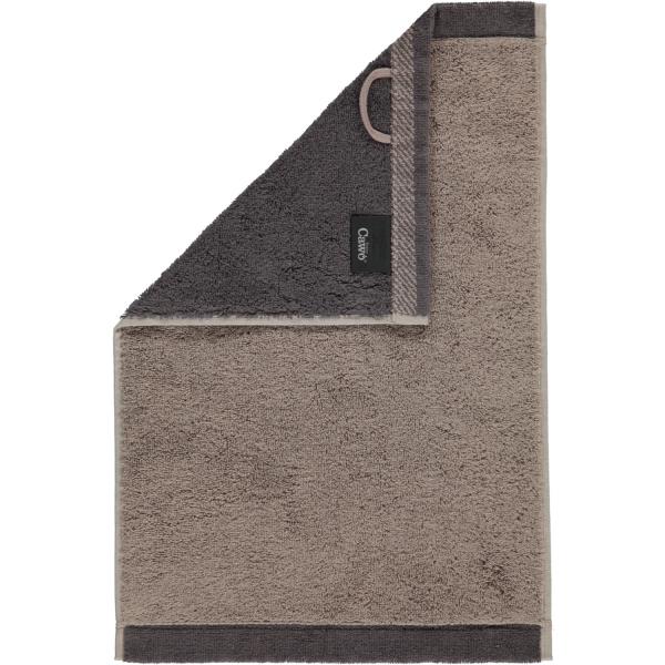 Cawö Plaid Doubleface 7070 - Farbe: graphit - 77 Gästetuch 30x50 cm