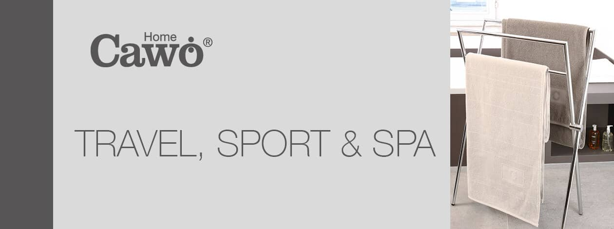 Cawö Saunatuch Travel, Sport & Spa Uni Allover 502 - 80x200 cm - Farbe: travertin - 366 Detailbild 2