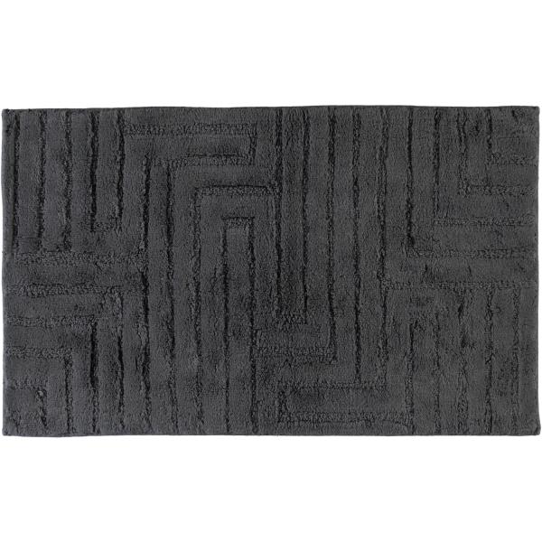 Cawö Home - Badteppich Struktur 1004 - Farbe: anthrazit - 774 70x120 cm