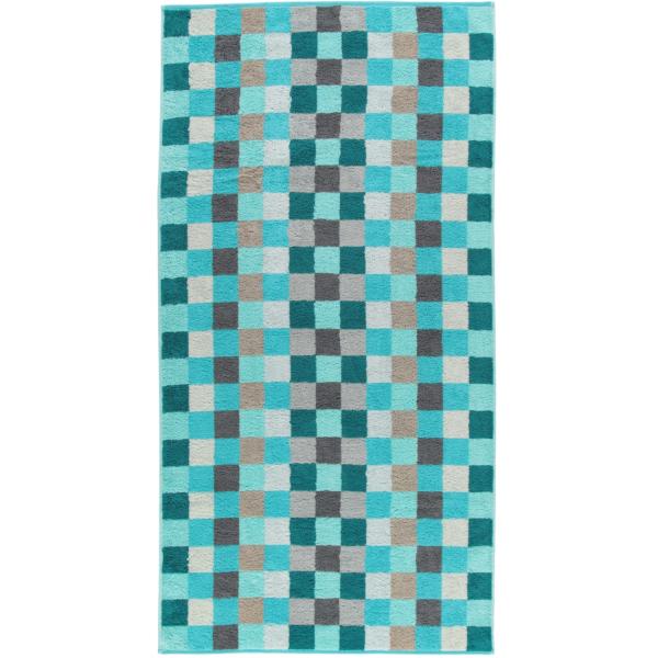 Cawö - Unique Karo 942 - Farbe: türkis - 44 Duschtuch 70x140 cm