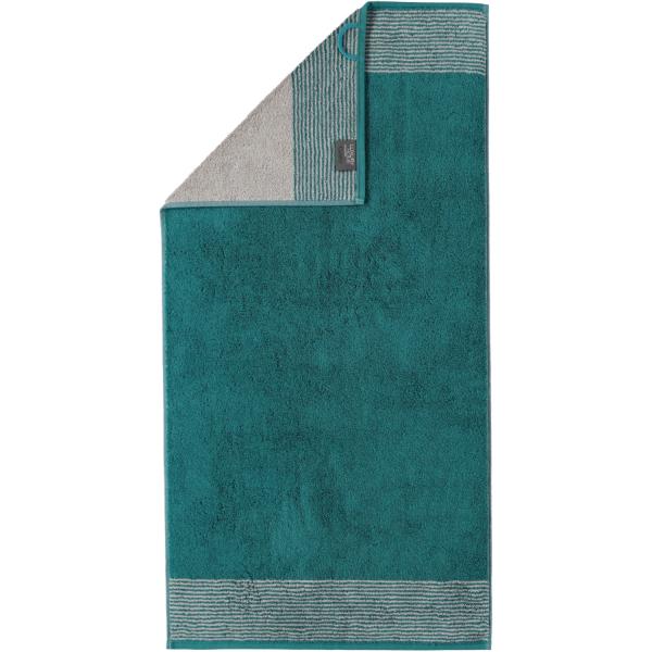 Cawö - Luxury Home Two-Tone 590 - Farbe: smaragd - 44 Handtuch 50x100 cm