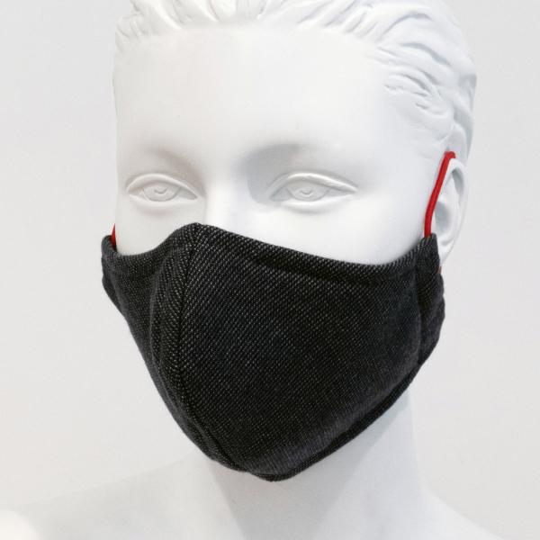 Cawö Mund- und Nasenmaske 9903 - 2er Pack - Farbe: dunkelgrau - 99 (Gummikordel farblich sortiert)