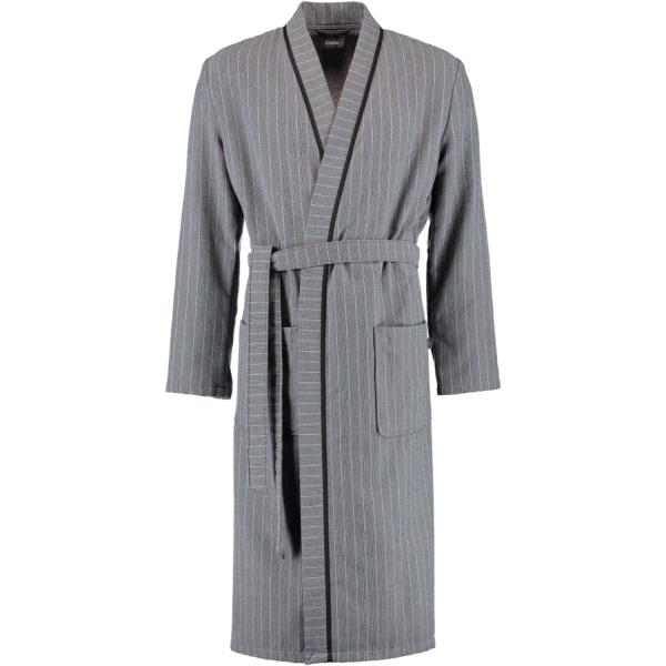 Cawö Herren Bademantel Kimono 6524 - Farbe: anthrazit-türkis - 94 S