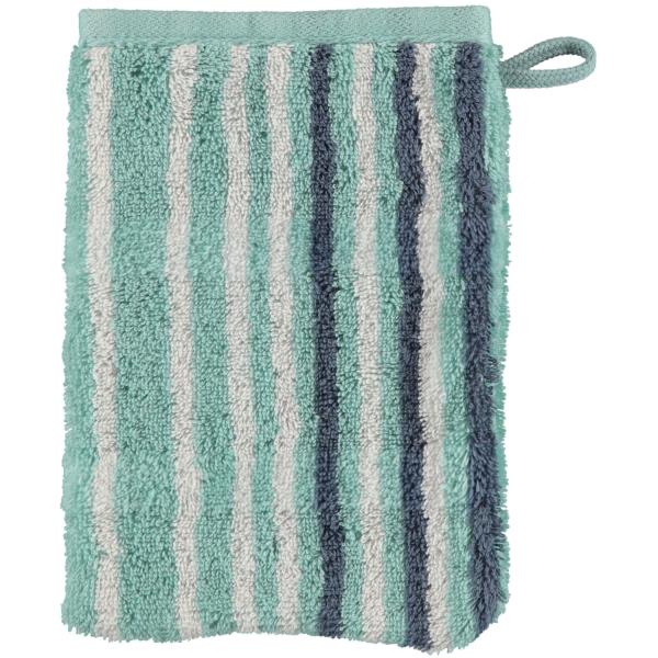 Cawö - Noblesse Lines 1082 - Farbe: seegrün - 44 Waschhandschuh 16x22 cm