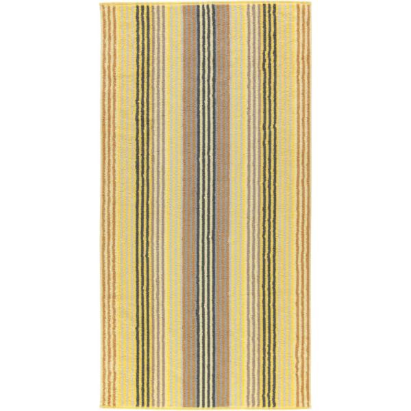 Cawö - Unique Streifen 944 - Farbe: citrin - 55 Duschtuch 70x140 cm