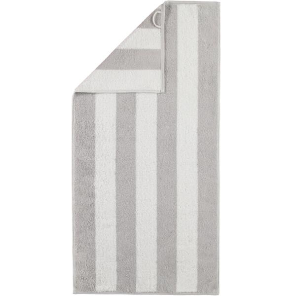 Cawö Zoom Blockstreifen 120 - Farbe: platin - 76 Handtuch 50x100 cm