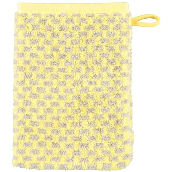 Cawö Reed Allover 956 - Farbe: lemon - 57 Waschhandschuh 16x22 cm