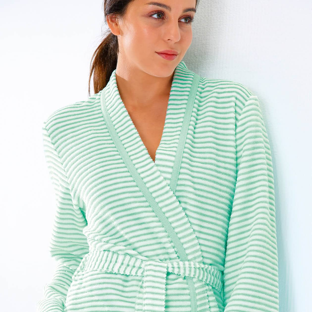 Cawö - Damen Bademantel Kurz Kimono 1214 - Farbe: malve - 22 Detailbild 1