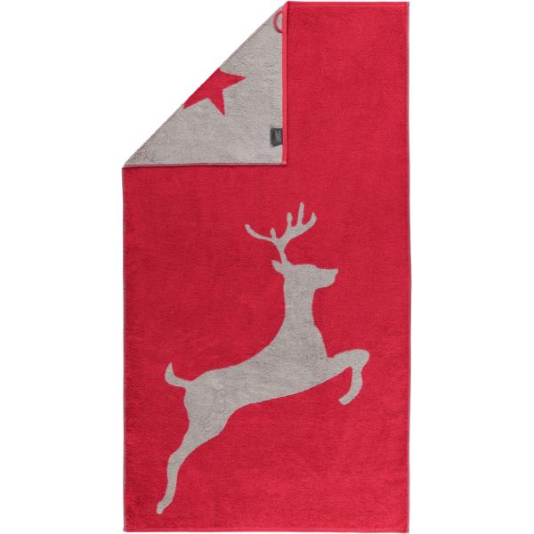Cawö Christmas Edition Hirsch 929 - Farbe: bordeaux - 22 Duschtuch 80x150 cm