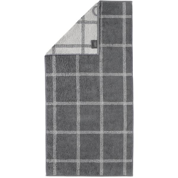 Cawö - Luxury Home Two-Tone Grafik 604 - Farbe: schiefer - 77 Handtuch 50x100 cm
