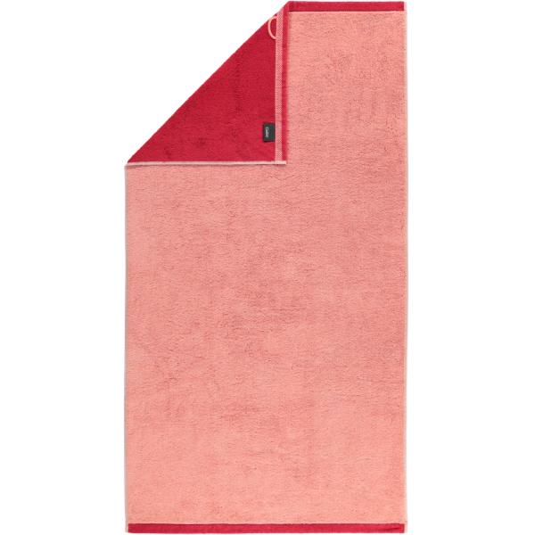 Cawö Plaid Doubleface 7070 - Farbe: rouge - 22 Duschtuch 70x140 cm
