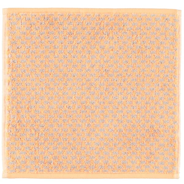 Cawö Reed Allover 956 - Farbe: peach - 37 Seiflappen 30x30 cm