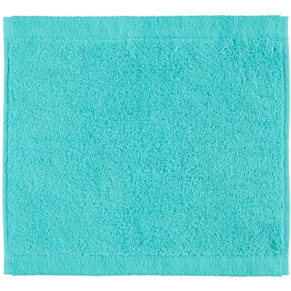 Cawö - Life Style Uni 7007 - Farbe: türkis - 430 Seiflappen 30x30 cm