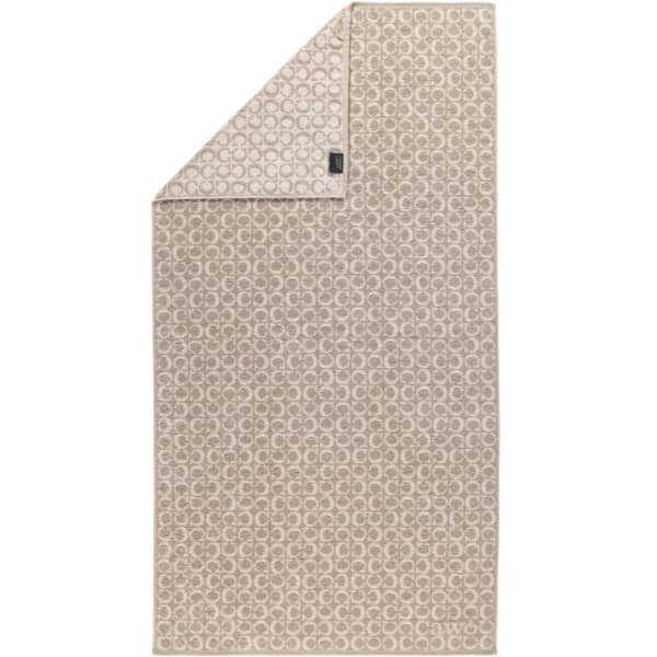 Cawö - Luxury Home Two-Tone C-Allover 605 - Farbe: sand - 33 Duschtuch 80x150 cm