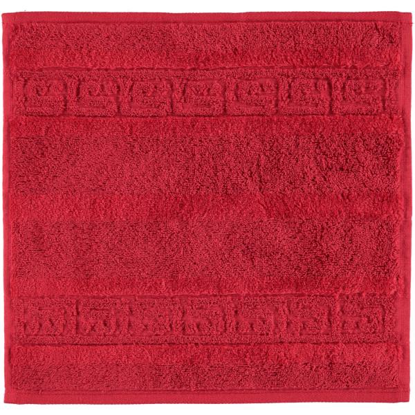 Cawö - Noblesse Uni 1001 - Farbe: 280 - bordeaux Seiflappen 30x30 cm