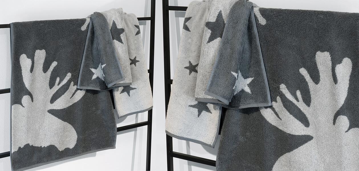 Cawö Christmas Edition Elch 927 - Farbe: bordeaux - 22 Handtuch 50x100 cm Detailbild 2