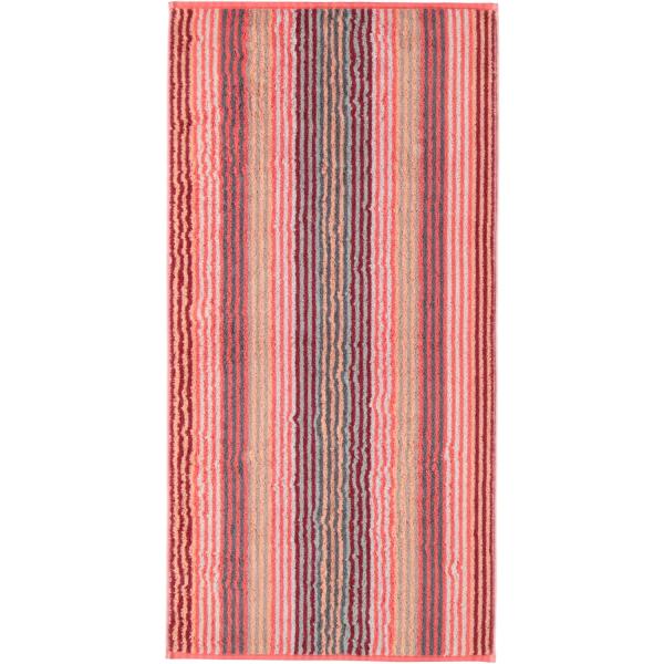 Cawö - Unique Streifen 944 - Farbe: koralle - 22 Handtuch 50x100 cm