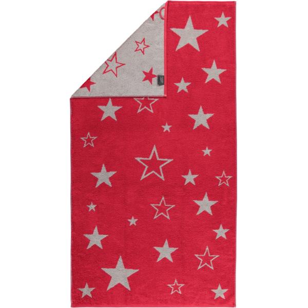Cawö Christmas Edition Sterne 928 - Farbe: bordeaux - 22 Duschtuch 80x150 cm